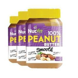 NUTVIT 100% Peanut Butter - 1000g x 3