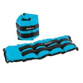 Regulowane obciążniki na kostki i nadgarstki inSPORTline BlueWeight 2x2 kg Bransoletki z obciążeniem
