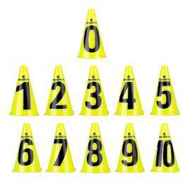 Zestaw pachołki treningowe inSPORTline Numeric 23 cm 11 sztuk Sprzęt sportowy i lekkoatletyczny