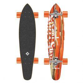 Longboard Street Surfing Kicktail - Damaged Orange 36