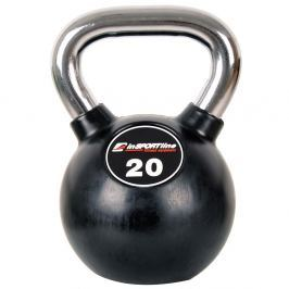 Hantla gumowana inSPORTline Kettlebell 20 kg