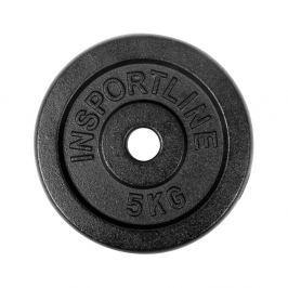 Stalowe obciążenie talerz do sztangi 30mm inSPORTLine Blacksteel 5 kg