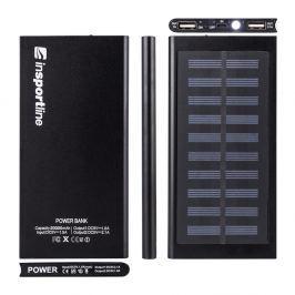 Powerbank z panelem słonecznym 20 000 mAh inSPORTline Inergymo LED Sprzęt outdoorowy