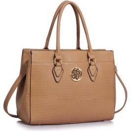 L&S Fashion LS00511 torebka na ramię beżowa