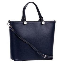 Brastini La Giulia skórzana torebka do ręki ciemnoniebieska