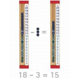 Drewniany kalkulator z kulkami, 36 el.