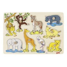 Układanka z elementami do wkładania, afrykańskie małe zwierzęta...