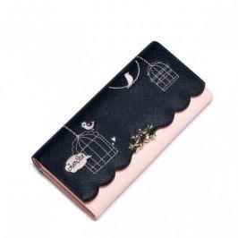 Długi dziewczęcy portfel z letniej kolekcji Niebieski
