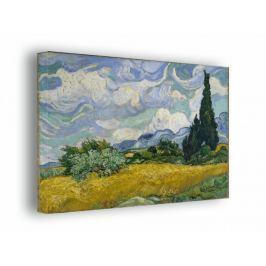 Pole pszenicy z cyprysami - Vincent van Gogh - obraz na płótnie