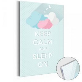 Obraz na szkle akrylowym - KEEP CALM and sleep on [Glass]