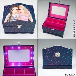 Szkatułka pudełko na biżuterię 8042 Top Model podświetlane lusterko