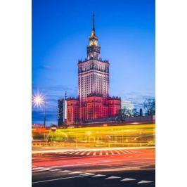Warszawa Kolory Pałac Kultury - plakat premium
