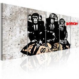 Obraz - Banksy: Trzy Małpy