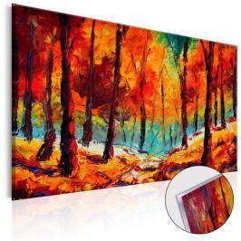 Obraz na szkle akrylowym - Artystyczna jesień [Glass]