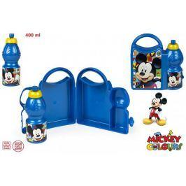 Zestaw pojemnik śniadaniowy + bidon Myszka Mickey