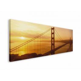Golden Gate San Francisco o zachodzie słońca - obraz na płótnie