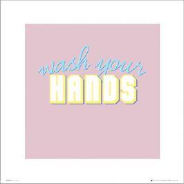 Bathroom Wash Hands - plakat premium