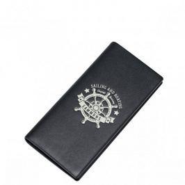SAMMONS Długi portfel z motywem morskim Czarny