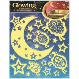 Naklejki GLOW Księżyc Gwiazdki i Baranki