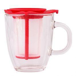 Bodum Yo-Yo set  kubek z zaparzaczem czerwony