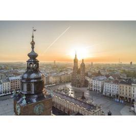 Rynek Kraków Ratusz - plakat premium