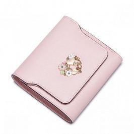 Krótki damski portfel Różowy