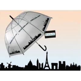 Parasol Przezroczysty Miasto - Duża Otwierana Ręcznie Parasolka