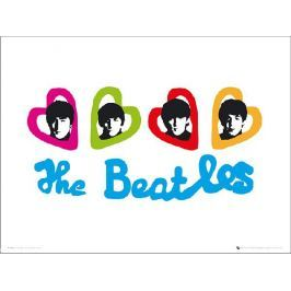 The Beatles Love Hearts - plakat premium