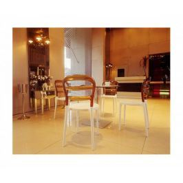 Krzesło Miss Bibi white/amber transp.