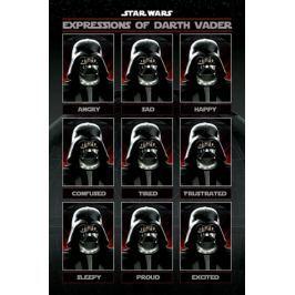 Gwiezdne Wojny Star Wars Expressions of Darth Vader - plakat