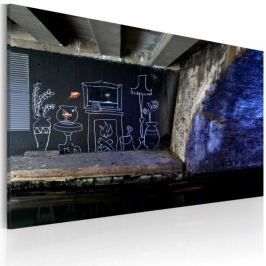 Obraz - Mój jest ten kawałek podłogi (Banksy)