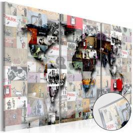 Obraz na szkle akrylowym - Mapa nowoczesnego świata [Glass]
