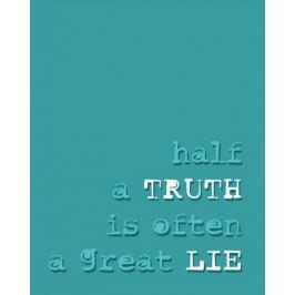 Half a truth - plakat