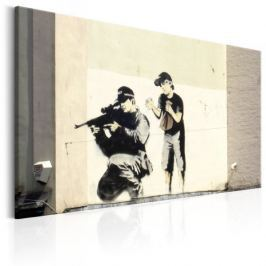 Obraz - Sniper and Child by Banksy