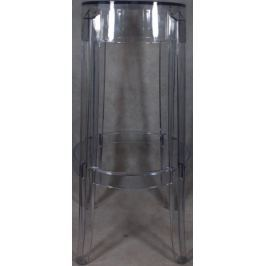 Stołek Duch transparentny 75cm outlet