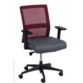 Fotel biurowy Press czerwony/szary