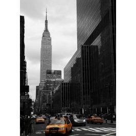 Yellow taxis on 35th street, Manhattan, New York - fototapeta