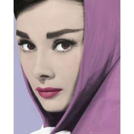 Audrey Hepburn Fioletowy Szal - plakat