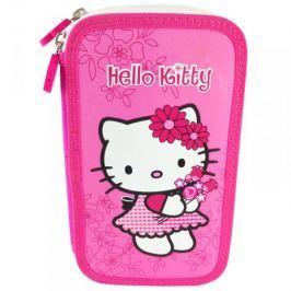 Piórnik podwójny z wyposażeniem Hello Kitty