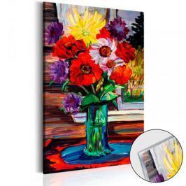 Obraz na szkle akrylowym - Bukiet jesiennych kwiatów [Glass]