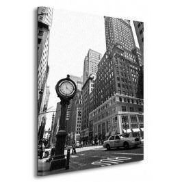 New York, zegar - Obraz na płótnie
