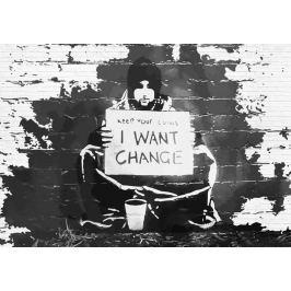 Fototapeta Banksy Change mural flizelinowa