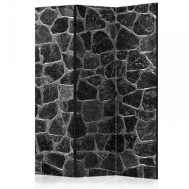 Parawan 3-częściowy - Czarne kamienie [Room Dividers]