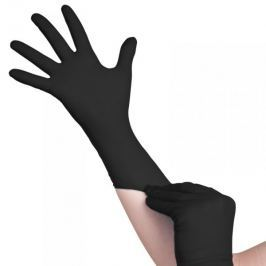 JEDNORAZOWE RĘKAWICZKI BLACK NITRYLOWE XL