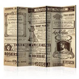 Parawan 5-częściowy - Vintage Magazines II [Room Dividers]