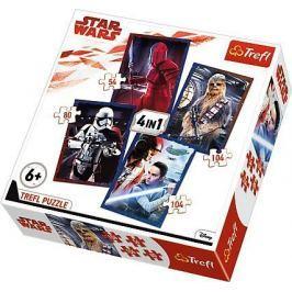 PUZZLE 4w1 STAR WARS VIII 34277 Gwiezdne Wojny