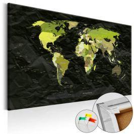 Obraz na korku - Dżungla nowoczesności [Mapa korkowa]