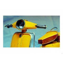 Żółta Vespa - plakat