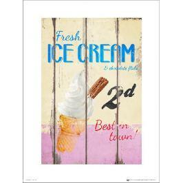Vintage Ice Cream - plakat premium