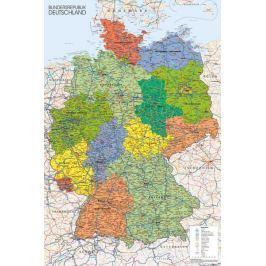 Mapa Niemiec - plakat